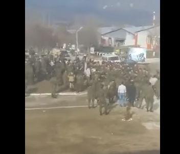 Драка в военской части Чечни