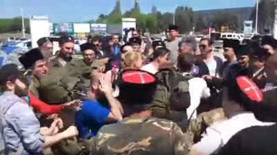 На Навального напали казаки
