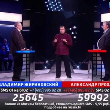 Соловьев подкрутил рейтинг Жириновскому